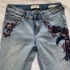 Jessica Simpson embroidered skinny jeans